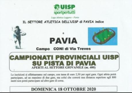 Meeting Uisp in pista a Pavia